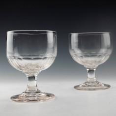 Pair of Victorian Slice Cut Rummers c1880