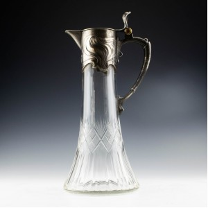 Early WMF Silver Plated Claret Jug c1886