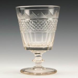 Victorian Cut Glass Rummer c1850
