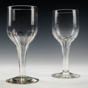Pair of Victorian Hollow Stem Wine Glasses c1870 Was £45