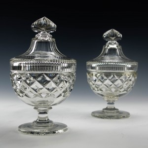 Pair of Cut Glass Trinket Dishes Was £30