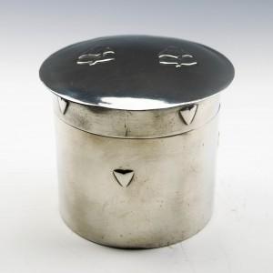 Tudric Pewter Tea Caddy c1905