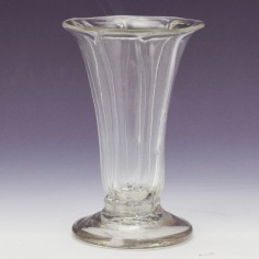 Rib Moulded Dram / Jelly Glass c1760