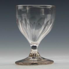 Petal Moulded Georgian Dram Glass c1780