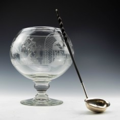 Sterling Silver Toddy Ladle With Coin c1800