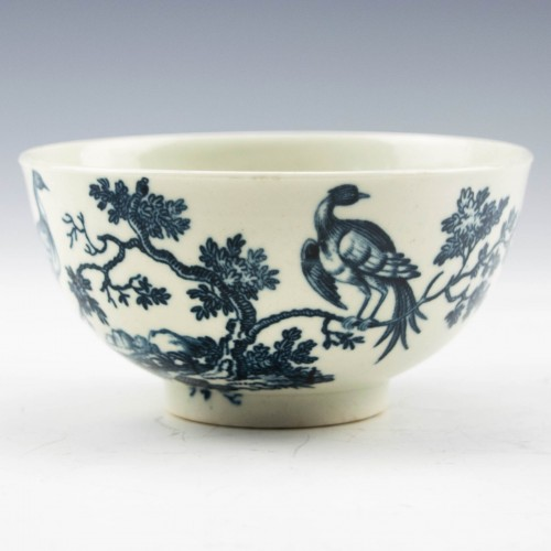 """First Period Worcester Porcelain """"Birds in Branches"""" Pattern Sugar Bowl c1770"""