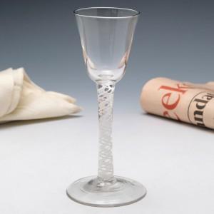 Elegant Single Series Opaque Twist Georgian Wine Glass c1760