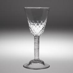 Incised Twist Stem Georgian Wine Glass c1755