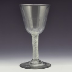 Petal Moulded Air Twist Georgian Wine Glass c1750