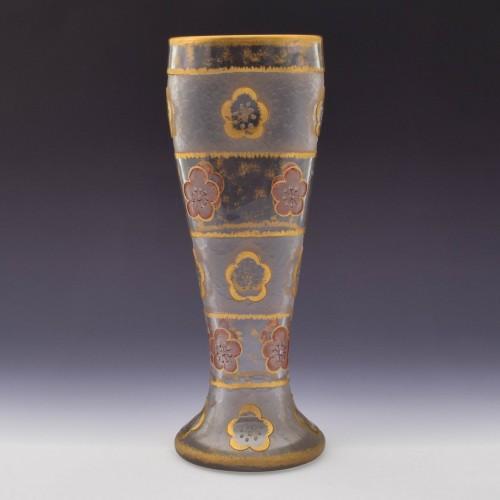 Daum Nancy Poppy Vase c1895