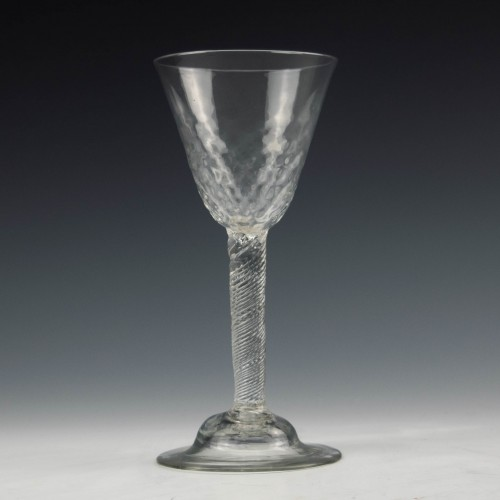 Georgian Incised Twist Stem Wine Glass c1755