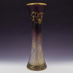 Daum Nancy Gilded Amethyst Vase c1900