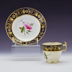 Coffee Cup And Saucer Probably Coalport c1820