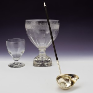 George III Sterling SIlver Toddy Ladle With Coin London 1791