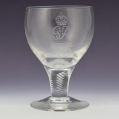 Stuart Crystal George VI Coronation Goblet 1937
