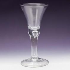 A Georgian Wine Goblet c1740