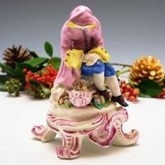 A Bow Porcelain Figure of Winter c1765