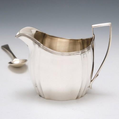 George III Sterling Silver Cream Jug London 1802