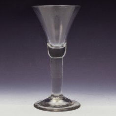 An 18th Century Plain Stem Wine Glass c1750