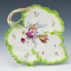 18th Century Frankenthal Leaf Dish c1760