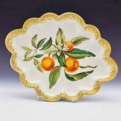 "Derby Botanical Porcelain Dish ""Orange Tree"" 115 c1795"