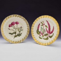 Pair Derby Porcelain Plates Pattern 115 c1795