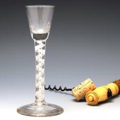 Georgian Opaque Twist Cordial Glass c1760