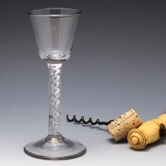 Mercury Twist Stem Georgian Wine Glass c1750