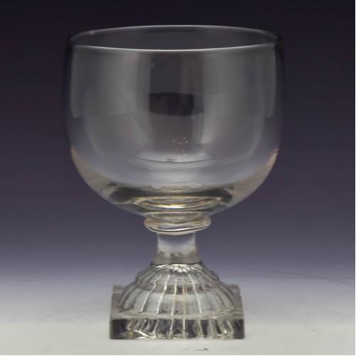 Georgian Glass Rummer with Lemon Squeezer Foot c1800