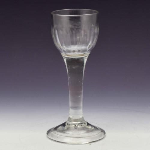 Rib Moulded Georgian Wine Glass c1750