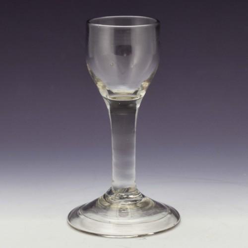 Georgian Plain Stem Short Wine Glass c1745