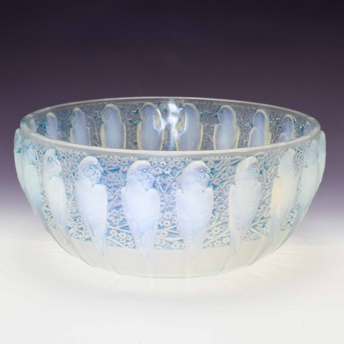 Rene Lalique Opalescent Perruches Bowl Designed 1931