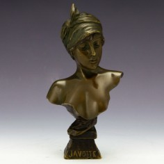 Javotte A Small Bronze Bust of Maiden by Villanis c1900