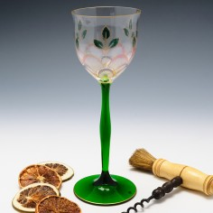 Theresienthal Enamelled Wine Glass c1905