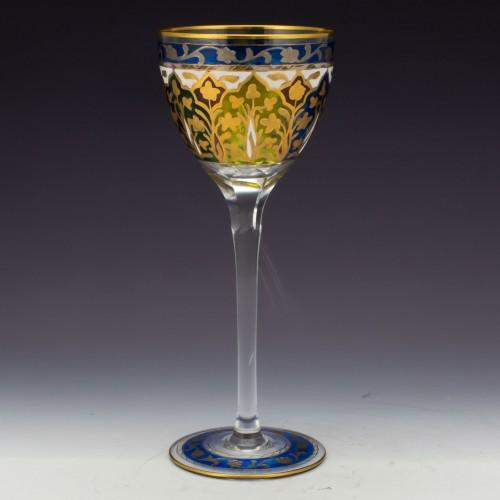 Fritz Heckert Enamelled Wine Glass c1900