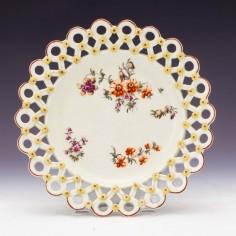 Derby Porcelain Spectacle Plate c1765