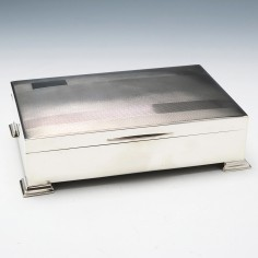 Sterling Silver Cigar Or Cigarette Box Birmingham 1947