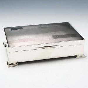 Sterling Silver Cigar Or Cigarette Box Birmingham 1947