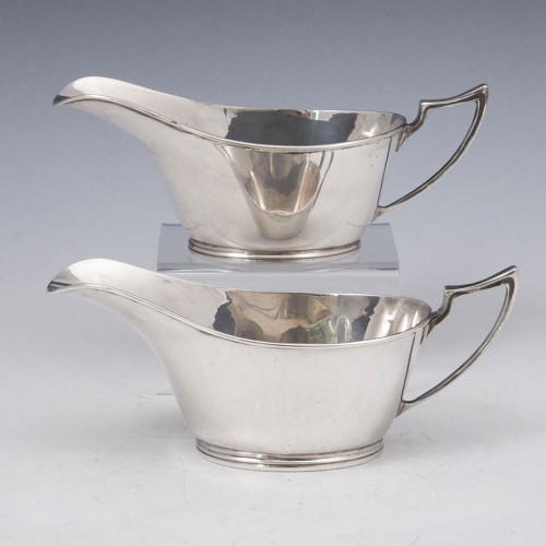 Pair Sterling Silver Sauceboat Sheffield 1932