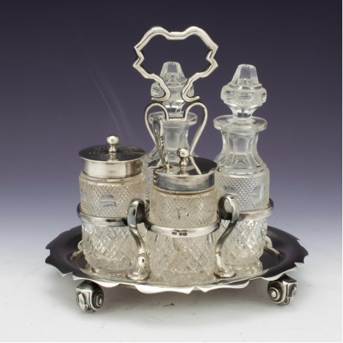 Sterling Silver Cruet Set Sheffield 1904