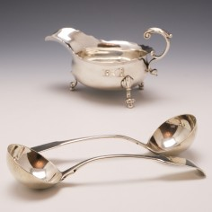 Pair of Sterling Silver Ladles London 1792