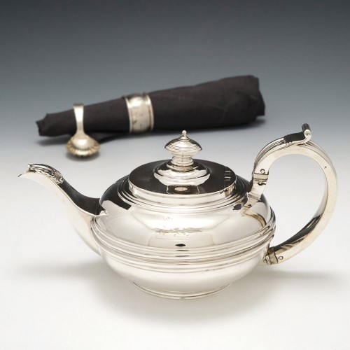 A Georgian Sterling Silver Bachelors Teapot London 1821