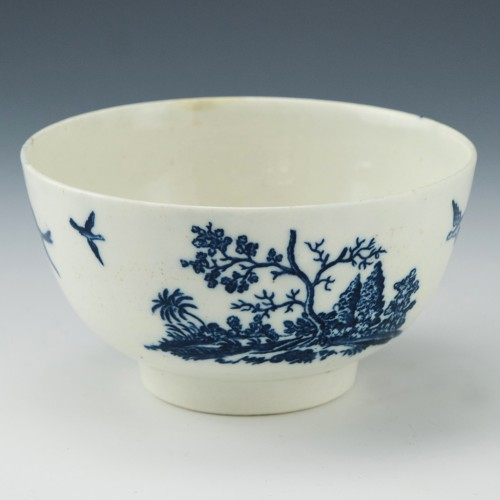 Caughley Porcelain Birds In Branches Pattern Slop Bowl c1780