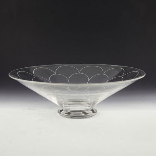 John Walsh Walsh Pattern 5886 Art Deco Glass Bowl c1940