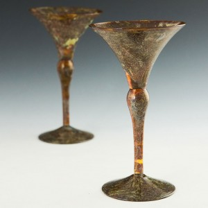 Pair WMF 'Agate' Cocktail Glasses c1935