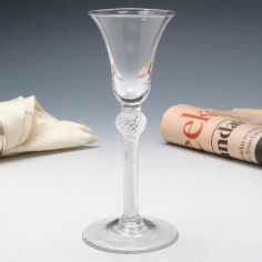 Georgian Knopped Composite Stem Wine Glass c1750