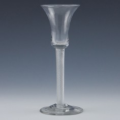 Air Twist Stem Georgian Wine Glass c1750