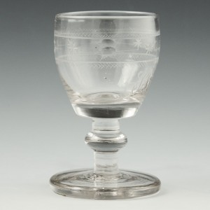 Engraved 19th Century Engraved Drinking Glass c1830