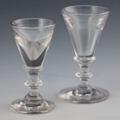 Two Deceptive Toasting Glasses c1810