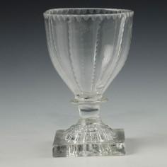 A Georgian Glass Table Salt With Lemon Squeezer Foot c1810